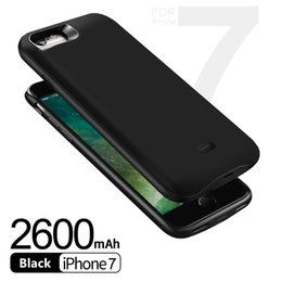 Wholesale Wholesale Slimming Products - promotion product 2600mah power case For iPhone 8 7 Portable slim backup battery case free shipping with fast ship high quality