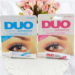 Wholesale Eye Lashes Glue Duo - New Hot Sale duo Makeup Waterproof Adhesive Eye Lash Glue Use For False Eyelashes Makeup Durable Practical White Black