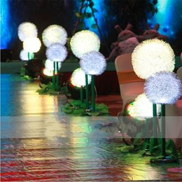 Wholesale Chinese Roads - European style LED Light Up Dandelion Wedding Centerpieces Road Lead stand pillars party stage Photo Props Supplies 40cm 60cm 80cm tall