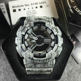 Wholesale Cheap Watch Blue - Wholesale Cheap Ga 110 sports men watches Led Digital Shockproof running g110 male wristwatch Autolight Drop Ship