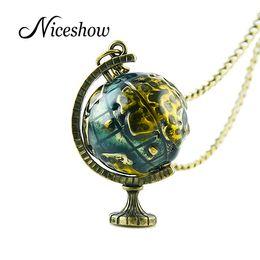 Wholesale Telescope Necklaces - Wholesale-Hot Selling Vintage Jewelry Retro Long Chain with Telescope Colorful Enamel Globe Necklaces & Pendants Women Jewelry