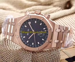Wholesale Perpetual Luxury - New Luxury High Quality Royal Perpetual Calendar 42mm Rose Gold Automatic Mechanical Men's Watch Stainless Steel Bracelet Gents Watches