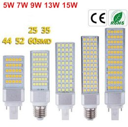 Wholesale Spotlight Socket - Brand New 5W 7W 9W 13W 15W E27 G24 G23 socket select LED Corn Bulb Lamp Bombillas Light SMD 5050 Spotlight 180 Degree AC85-265V