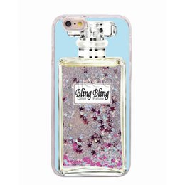 Wholesale Holographic Bags - For Iphone 7 Floating Holographic Glitter Liquid Phone Case For Iphone 7 6 6S plus 5 5S SE OPP BAG