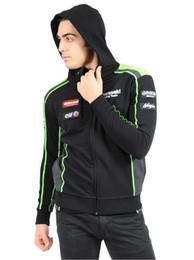 Wholesale Race Team Jackets - Kawasaki Team Hoodie MotoGP Men Jackets Motorcycle Bike Men's Casual Suit Racing Zip Hoodies Sports Sweater