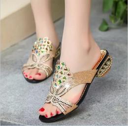 Wholesale Sandals 41 Size - 2017 Woman Sandals Women Shoes Rhinestones Chains Thong Gladiator Flat Sandals Chaussure Femme ete Plus Size 41 tenis feminino