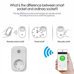 Wholesale free sockets - Smart Socket Plug Bacic WiFi Wireless Remote Socket Adaptor Power on and off with phone Free Shipping 2605007