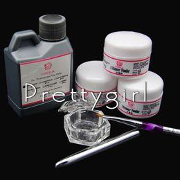 Wholesale Acrylic Liquid 75ml - Wholesale- COSCELIA Acrylic Nail Set 3pcs Acrylic Powder 75ml Liquid Acrylic Nail Brush File UV Nail Art Tip Tools Kit