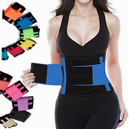 Wholesale Wholesale Waist Trainer Weight Loss - Women's Waist Trainer Belt Waist Trimmer Corset Weight Loss Ab Belt Stomach Shape Trainer Sports Cincher Wrap Workout Cincher Corset