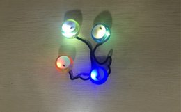 Wholesale Night Lights Discount - 2017 Discount Price Thumb Chucks with LED lights Diy Night skill play finger Decompression Toy fashion item