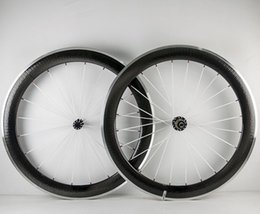 Wholesale Carbon Fiber 18 - 60mm Dimple Surface Wheels Alloy brake 700C 25mm Width U shape Carbon Fiber Road Bike Wheelset Stickers Available Chinese