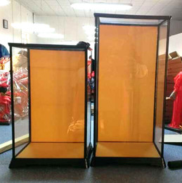 Wholesale Cabinet Door Covers - Silk doll ornaments special transparent protective cover dustproof cover glass crafts can penetrate the cabinet door