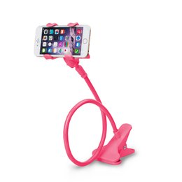 Wholesale Wholesale Desk Beds - Car Phone holder Universal Long Arm Lazy Mobile Phone Gooseneck Stand Holder Flexible Bed Desk Table Clip Bracket For iphone