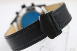 Wholesale Hk Calendar - 2017 High Quality Luxury Brand T Quartz Watch Men Blue Dial Original clasp Leather Band Free Shipping TNT OR HK OR EPACKET