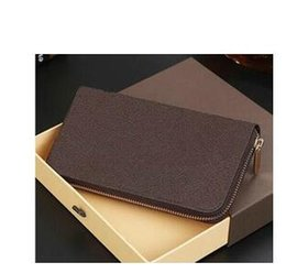 Wholesale Mens Wallet Free Shipping - Free shipping 2017 hot sell PU Leather mens and womens wallets purse card Holders long style wallet with box lqh2018