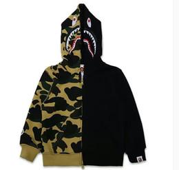 Wholesale Girls 3t Sweatshirts - Boys sup pullover sweatshirt Girls hoodies Children shark Outerwear Coat Fashion Kids Hooded Jackets jogging aape Children Clothing