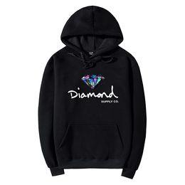 Wholesale Black Diamond Jacket - Wholesale S-2XL New Autumn Winter Thick Diamond Supply Hoodies Sweatshirts For Men Women Letter Printing Pullover Hoody Jacket