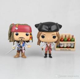 Wholesale Wholesale Sale Models Figures - Hot Sale Funko Pop Jack Sparrow Figure PVC Pirates of the Caribbean Action Figure Juguetes Model Children Kids Toys 10CM.