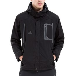 Wholesale Mens Jackets Waterproof Windproof - Mens 3 in 1 Waterproof Outdoor Jacket Warm Fleece Hooded Hiking Ski Running Sport Outerwear