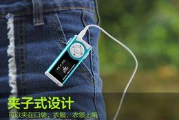 Wholesale Mp3 Player Dropshipping - Wholesale- Free shipping!!! Dropshipping! New arrrived Hotsale high quality with light MP3 Player With Screen support TF card up to 32GB