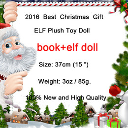 Wholesale Novelty Kids Games - 2016 New Plush ELF Dolls+Book Red Girl & Boy Figure Christmas elves of Christmas Novelty Toys Xmas Gift For Kids Holiday Gift