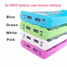 Wholesale Powerbank 2a - (No Battery) 8x18650 DIY Portable Battery Power Bank Charger 5V 2A Shell Case Box LCD Display Powerbank Box For DIY KIT Powerbank 18650