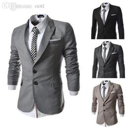 Wholesale Small Korean Jacket Coat - Wholesale-fashion korean stylish small suit for men casual fit suit outerwear Unique design blazer coat men jackets Black US. XS-L