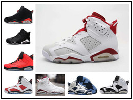 Wholesale Old Women - 2017 New Mens Jump men re-old 6 XI Basketball Shoes Women Athletic Sport Shoes re-old 6s Infrared Retro Sneakers Red Size 36-47