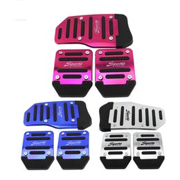 Wholesale Car Nonslip - Wholesale-3pcs Nonslip Car Auto Vehicle Accelerator Brake Foot Pedal Cover Set Manual Treadle