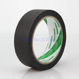 Wholesale Mask For Wall - Wholesale- 2016 Black 30mm x 25meter Crepe Paper Masking Tape Good For Car Painting Wall Painting Drawing Decoration Painting