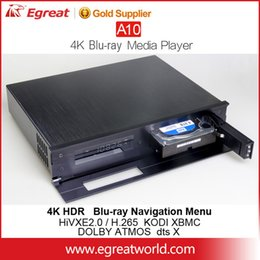 Wholesale Asf Wmv - EGREAT A10 factory selling free shipping internal 3.5inch HDD tray Blu-ray DVD menu HDD Media Player 2.4G 5G WIFI movie poster loading