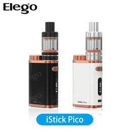 Wholesale E Cigaratte - Eleaf iStick Pico White Black Bronze Kit 75W Wholesale Authentic E cigaratte Kit with EC Coil VS SMOK Alien TFV12