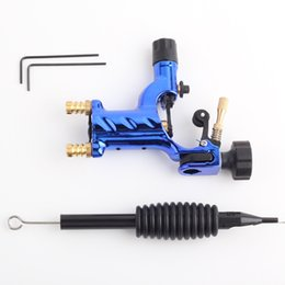 Wholesale Cheap Rotary Tattoo Gun Kit - Dragonfly Tattoo Machine Shader & Liner Rotary Gun 7 Colors Assorted Tatoo Motor Gun Grips Kits Cheap Price Free Shipping
