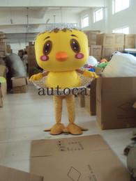 Wholesale Custom Chicken Costume - little yellow chicken Plush Cartoon Character Costume mascot Custom Products customized Wholesale FREE SHIPPING