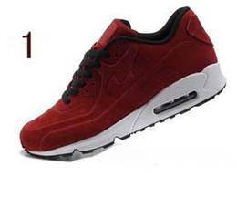 Wholesale Womens Casual Walking Shoes - 2017 M90 vt Antifur Leath MEN women casual Shoes Good Quality air 90 vt sole casual walking shoes mens womens outdoor shoes 36-45 chs