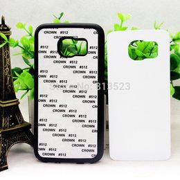 Wholesale S4 Sublimation - For Samsung Galaxy S3 S4 S5 mini S6 S6 S7 S8 Edge plus Note 3 4 5 2D Sublimation Blank with Aluminum Inserts and Glue cover case