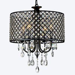 Wholesale incandescent fixture - Nordic American crystal chandelier chandeliers chandelier light fixtures iron art Living room, dining room, bedroom light Modern