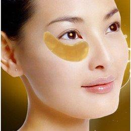 Wholesale Crystal Golden Collagen Eye Mask - Wholesale- 1pack=1pair=2pcs ! Golden eye mask Deck Out Women Crystal Eyelid Patch   Crystal Collagen Eye Mask (5packs gold mask)