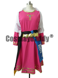 Wholesale Custom Zelda - The Legend of Zelda Princess Zelda Childhood Cosplay Costume