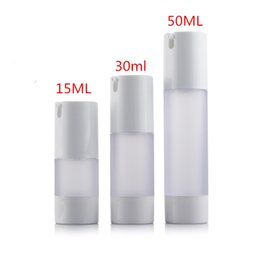 Wholesale Bottle Pump For Cosmetic Packaging - 50ml Grind arenaceous plastic airless container pump for skin care cream packaging, airless cosmetic bottles botellas plastico