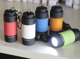 Wholesale Wholesale Quantity Usb - 100pcs lot LED mini flashlight USB charge mini key light strong light flashlight gift lamp quantity