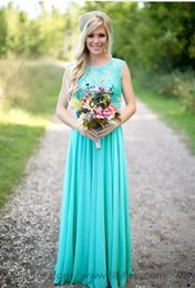 Wholesale Turquoise Blue Bridesmaid Dress Short - Hot Selling 2017 Country Style Turquoise Bridesmaid Dresses Cheap Long Bridesmaid Dress for Beach Wedding Evening Party Gowns