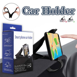 Wholesale Galaxy Car Cradle - Car Mount Cradle Dashboard Phone Holder For iPhone X Adjustable HUD Simulating Design Car Stand Mount For iPhone 8 Galaxy S8 in Retail Box