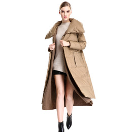 Wholesale Women Coats Fat - High Quality 2017 New Fashion Winter Outside Warm Wear With Sash Plus Size Long Parkas For Fat Women