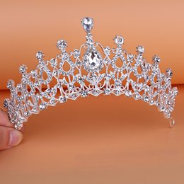 Wholesale Rose Gold Tiara - 2017 Hot Luxury Crystals Bridal Crowns and Tiaras For Wedding Real Sample High Quality Bridal Headpieces Weddding Accessories