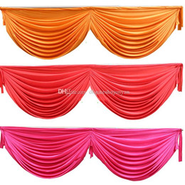 Wholesale Wholesale Wedding Swags - High quality drape swag to attach ice Silk Wedding Backdrops home curtain swag party decoration Free shipping