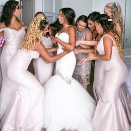 Wholesale Sweetheart Tulle Rhinestones - Sweetheart Mermaid Wedding Dresses With Rhinestones Beads Trumpet Strapless Satin Tulle Bridal Gowns Sweep Train