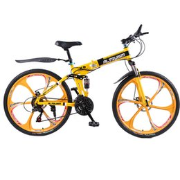 Wholesale Aluminum Mountain Bicycle - Altruism X9 26 inch folding bike aluminium frame mountain bike bicycles 21 speed disc brakes tall man MTB bikes 6 color bicycle