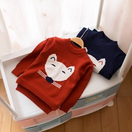Wholesale Mouse Jumpers - Cartoon Little Mouse Head Warm Velvet Baby Boys Girls Sweaters Kids Knitting Sweater Baby Clothes Casual Jumper