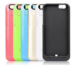 Wholesale External Battery Backup Charger Case - 3500mah Power case for iphone 6 External Backup Battery Charger back Case protective Power bank for 4.7 inch iphone6 free shipping wholesale
